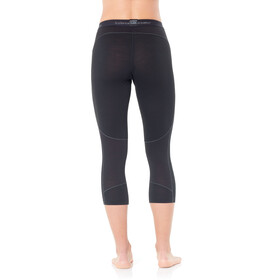 Icebreaker 150 Zone 3/4 Leggings Dames, black/mineral
